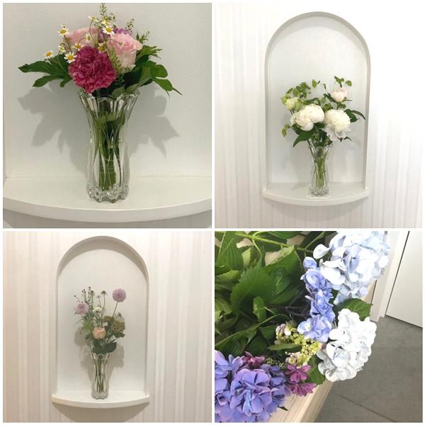 お花が飾れる玄関
